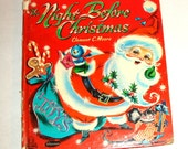 Vintage Book, The Night Before Christmas, Santa Claus, Children, Illustrated Child's Story, Whitman Book, Tell A Tales, 1963  (199-16)