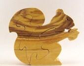 Squirrel with Acorn Wood Puzzle