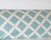 Blue bamboo design accent pillow cover