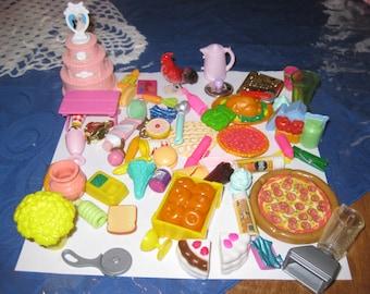 Lot of Barbie food items