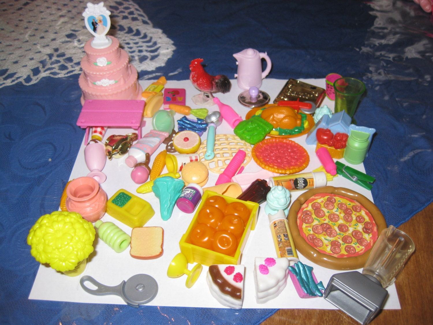 lot of barbie food items. Black Bedroom Furniture Sets. Home Design Ideas