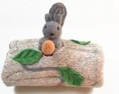 Waldorf toy, eco friendly toy, animal den, all natural toy, woodland toy, waldorf animal, stuffed animal,