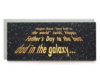 Galaxy Dad- letterpress card