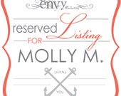 Two SHELL Become One Hand Cut Sea Shell and Anchor Wedding Invitation Sets... Reserved for Molly M.