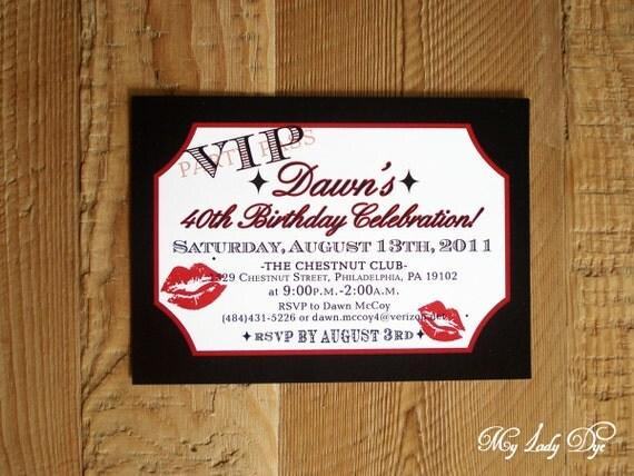 25 VIP Movie Ticket Birthday Invitations Old Hollywood Marilyn – Movie Ticket Birthday Invitation