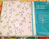 Twin flat floral sheet in original packaging unopened