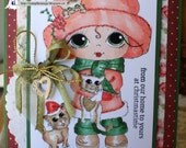 Handmade, Hand Colored, Handcrafted Shaker Card