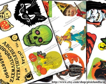 Halloween Scraps Vintage Printable Digital Download