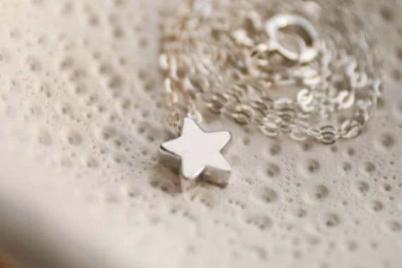 Silver Star Necklace - Simple Minimalist Mini Star Necklace - Wishing Star Charm Necklace - Everyday Jewelry - Gifts for Her