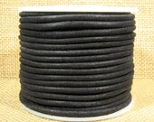 3mm Round Suede Cord - Black - 3MRS-1 - Choose Your Length