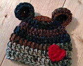Camo Teddy Bear Beanie - Many Sizes Available