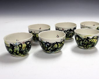 Fine gifts porcelain tea bowls chinese tea bowls shooters, party cups office gifts party gifts housewarming gifts