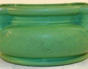 Roseville Pottery Matte Green Fern Dish 319