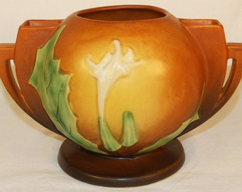 Roseville Pottery Thornapple Brown Bowl 305-6
