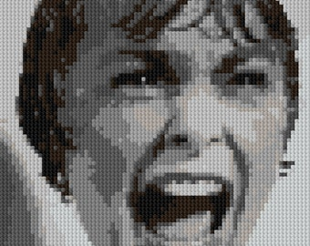 Shower Scream counted Cross Stitch Pattern Marion Crane Psycho Movie