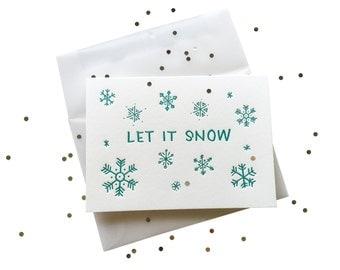 Let It Snow Confetti letterpress card