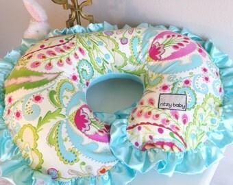 Kumari Garden Teja Pink and Mint Nursing Pillow Cover