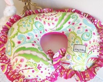 Kumari Garden Teja Pink and Jeevan Pink Nursing Pillow Cover, Add a Monogram