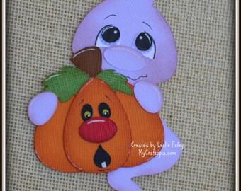Ghost Pumkin Halloween premade scrapbooking embellishment Paper Piecing set
