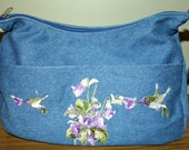 Hand Crafted Jean Messenger Bag