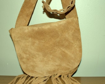 Hand Made Leather Hippie Bag-Great Christmas Sale.