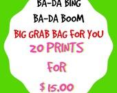 Grab Bag Special 20 Random Prints for 15 Bucks