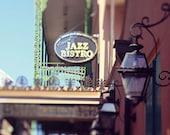 "New Orleans Photography - French Quarter ""Jazz Bistro"" photograph new orleans art louisiana mardi gras  fine art print"