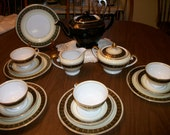 Vintage ALBION Japan Tea set for 4 & Hall tea Pot ~16pc for Bridal Luncheons, Showers, Bridesmaid Gift, Wedding,