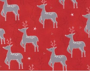 Moda Fabric JOL collection, Rudolf on Red- yards