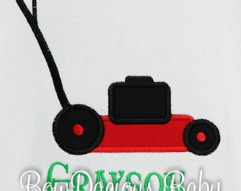 Personalized Lawnmower Shirt, Lawn Mower Shirt  for Kids, You Pick the Colors