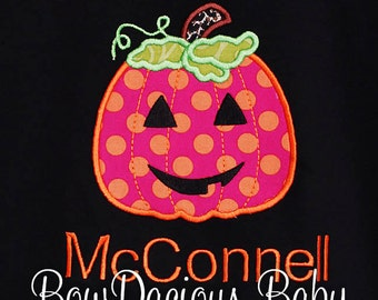 Girls Halloween Shirt, Personalized Jack o Lantern Shirt, Halloween Pumpkin Shirt, Pumpkin Shirt, Jack O Lantern