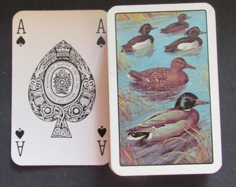 Nice Deck of Waddingtons English Vintage Playing Cards-Ducks on a Pond
