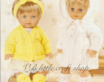 Doll's clothes knitting pattern. instant PDF download!
