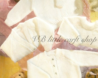 Baby's cardigans and sweaters knitting pattern. Instant PDF download!