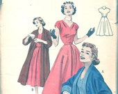 Vintage 50s Dress and Coat Pattern UNCUT FFButterick 6772 32 bust Rockabilly Full Skirt Party 1950s