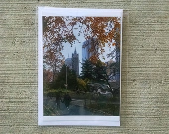 NYC Central Park Cityscape Blank Notecard