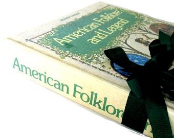 American Folklore and Legend Vintage Book, Folklore Book, Legend Book, American History Book, Paper Ephemera Book