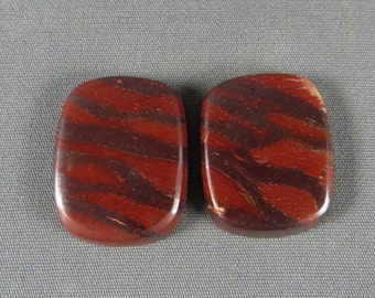 Australian Snakeskin Jasper cabochon Rare old collection Designer PAIR cabochon for wire wrap, silver smith or gold jewelry