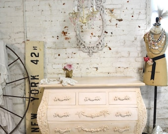 Painted Cottage Chic Shabby Romantic French Bombay Dresser DR838