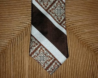 Mens Necktie 1970s Necktie 70s Necktie 1970s Tie 70s Tie Vintage Mens Necktie Wide Necktie Wide Tie Polyester Necktie Dino Orsini Trevira