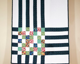 Quilted Crib Quilt/Baby Blanket