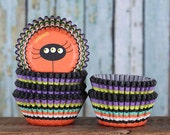MINI Halloween Cupcake Liners, Mini Spider Cupcake Liners, Mini Halloween Candy Cups, Mini Halloween Baking Cups (100)