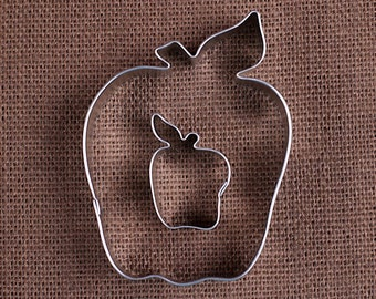 Apple Cookie Cutter Set with Large and Mini Apple Cookie Cutter, Fall Cookie Cutters, Thanksgiving Cookie Cutters, Harvest Cookie Cutters