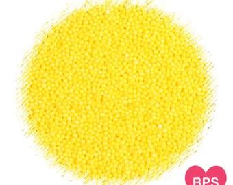 Yellow Nonpareil Sprinkles, Yellow Sprinkles, Yellow Nonpareils, Edible Sprinkles, 100's & 1,000's, Cupcake Sprinkles, Fairy Bread Sprinkles