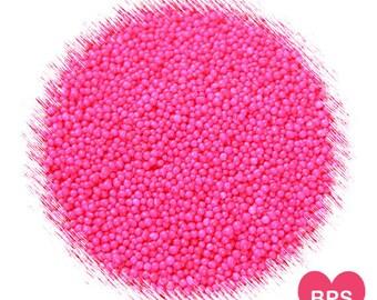 Bright Pink Nonpareil Sprinkles, Pink Nonpareils, Pink Sprinkles, Pink Cake Pop Sprinkles, Pink Cupcake Sprinkles, Edible Sprinkles