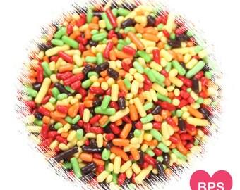 Fall Harvest Jimmies Sprinkles, Fall Sprinkles, Thanksgiving Sprinkles, Ice Cream Toppings, Cupcake Sprinkles, Halloween Sprinkles