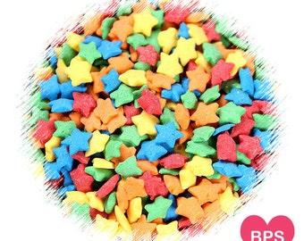 Rainbow Star Sprinkles, Rainbow Sprinkles, Rainbow Cupcake Sprinkles, Star Quin Sprinkles, Edible Sprinkles, Star Sugar Shapes