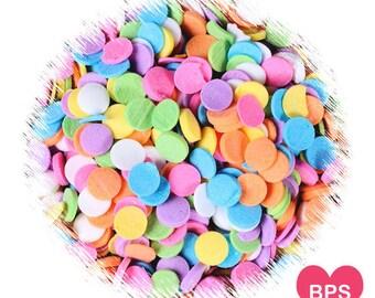 Pastel Rainbow Polka Dot Quin Sprinkles, Confetti Dot Quins, Pastel Rainbow Sprinkles, Polka Dot Sprinkles, Easter Sprinkles