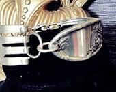 cuff Fork Bracelet, vintage spoon bracelet antique art deco Fork bracelet