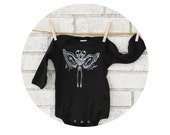 READY to SHIP 6 months Conjoined Twins Baby Onepiece, Infant Skeleton, Specimen, Angel, Oddity, Day of the Dead, Curiosity,  long sleeves